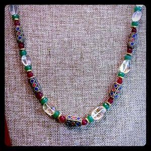 Jewelry - WNT Citrine ThaiBrassBeads RubyEmerald Necklace19